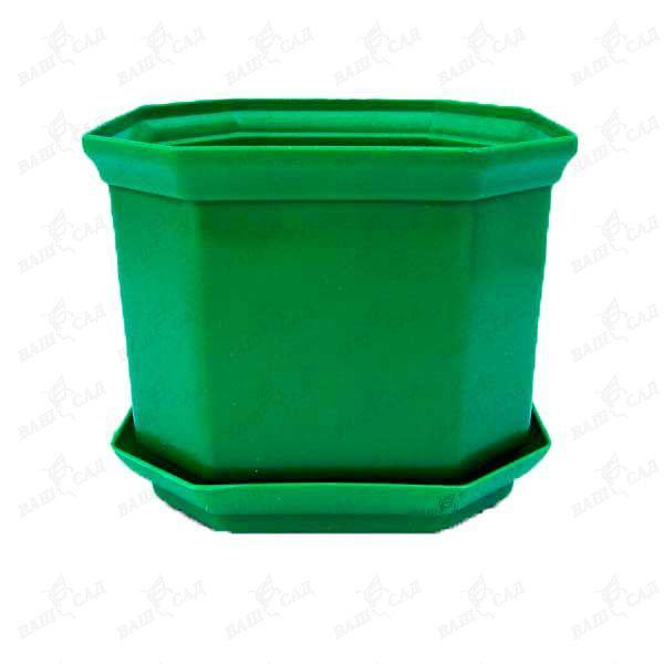 Вазон Дама 16 2,45 л зелёный