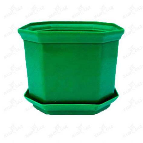 Вазон Дама 16 2,45 л зелёный, фото 2