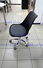 Крісло на колесах Астер блакитний від SDM Group, сидіння з подушкою, фото 4