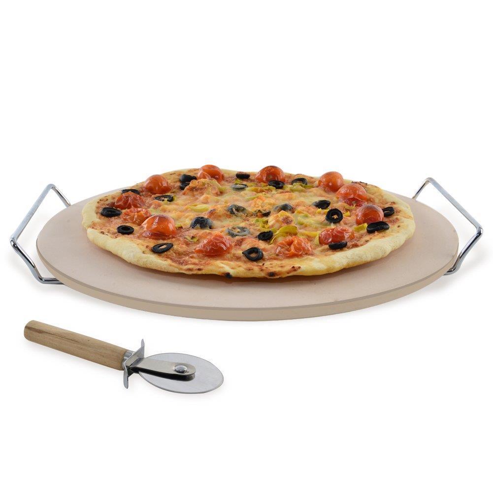 Камінь для піци з підставкою і ножем 33 см