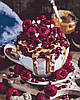 Картина по номерам (KH5524) Малиновый десерт, 40 х 50 см, Идейка