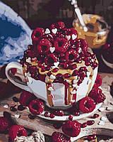 Картина по номерам (KH5524) Малиновый десерт, 40 х 50 см, Идейка, фото 1