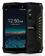 Смартфон защищенный черный с модулем нфс и сканером отпечатка пальца на 2 сим карты Poptel P8 yellow 2/16ГБ, фото 1