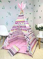 Вигвам детская игровая палатка домик «Пестрая сказка»