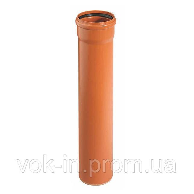 Труба для наружной канализации 125 мм (1 м) Ostendor