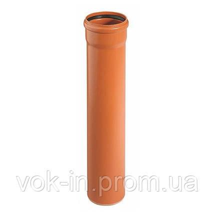 Труба для наружной канализации 125 мм (1 м) Ostendor, фото 2