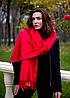 Теплый кашемировый шарф палантин Салли 185*70 см красный