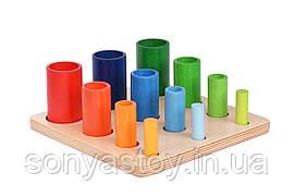 """Сортер """"Форми"""", дерев'яна гра для вивчення форм і кольорів, 1+"""