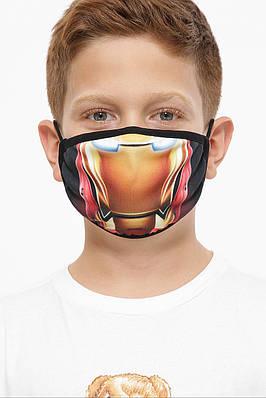 Детская защитная многоразовая маска с принтом