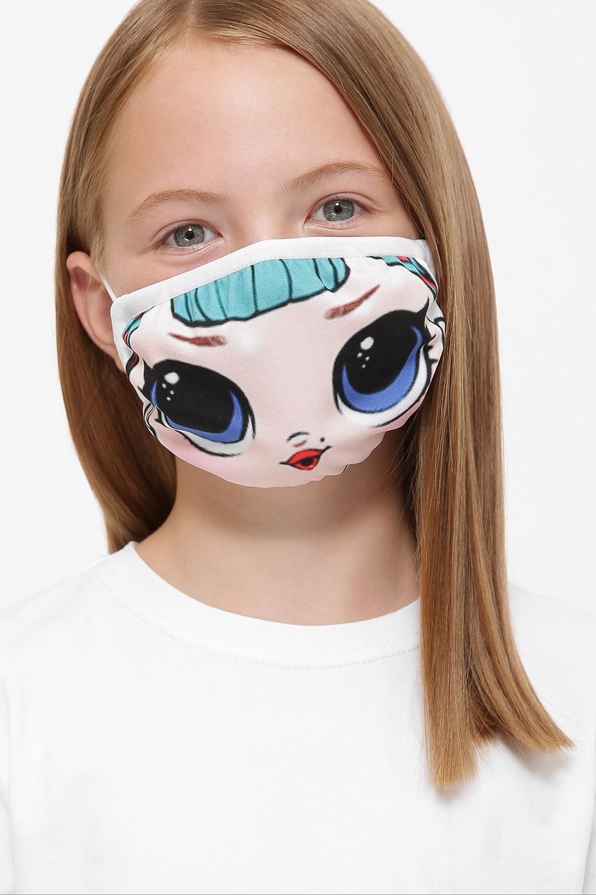 Защитная тканевая маска детская с принтом