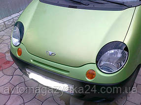 Реснички на фары Daewoo Matiz 1998-  Spirit (на скотче 3М)