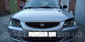 Реснички на фары Hyundai Accent 1999-2005 ANV-air (на скотче 3М)
