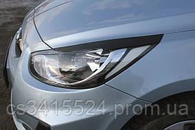 Реснички на фары Hyundai Accent 2011-2014 ANV-air (на скотче 3М)