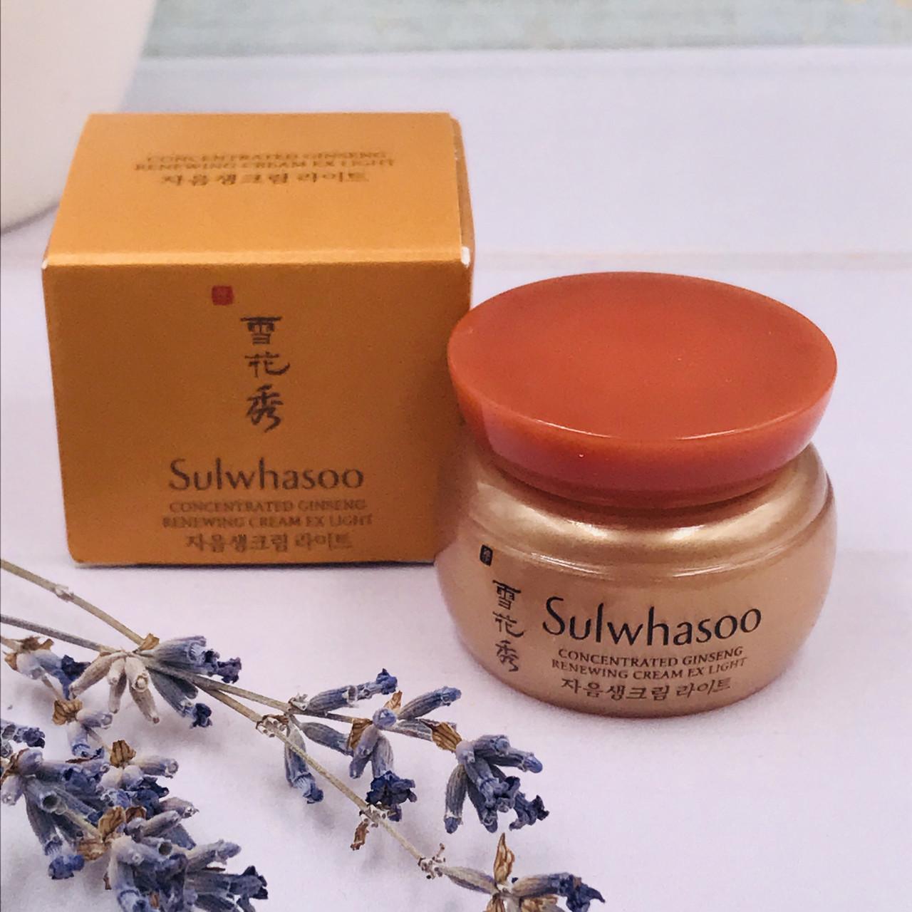 Антивозрастной крем Sulwhasoo с женьшенем Concentrated Ginseng Renewing Cream EX Light