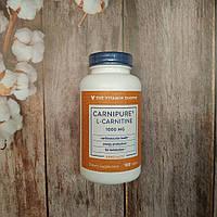 The Vitamin Shoppe Carnipure L-Carnitine 100 tab 1000 mg, жиросжигатель Карнипьюр Карнитин