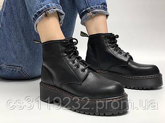Женские ботинки Dr.Martens JADON mid демисезонные (черный)