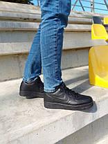 Мужские Кроссовки Nike air force 1low black / Кожа / Чоловічі кросівки, Найк/ размер 41-46, фото 2
