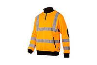 """Рабочий сигнальный свитер с светоотражающими полосами """"BRIGHTON"""" - SIZAM, фото 1"""