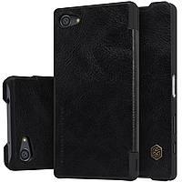 Кожаный чехол Nillkin Qin для Sony Xperia Z5 Compact чёрный, фото 1