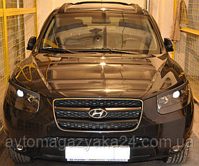 Реснички на фары Hyundai Santa Fe 2012 ANV-air (на скотче 3М)