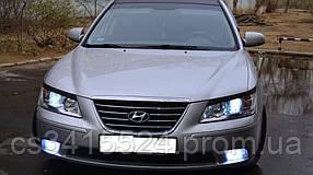 Реснички на фары Hyundai Sonata NF 2005-2010  Spirit (на скотче 3М)