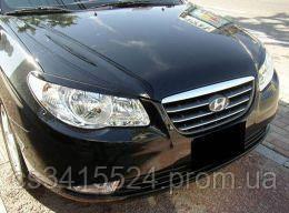Реснички на фары Hyundai Elantra 2007-2010  Spirit (на скотче 3М)