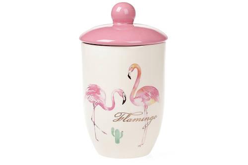 Банка для сыпучих продуктов 800 мл Розовый Фламинго Bona Di DM-111-FL