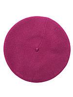 Берет женский вязаный  стильный фиолетовый