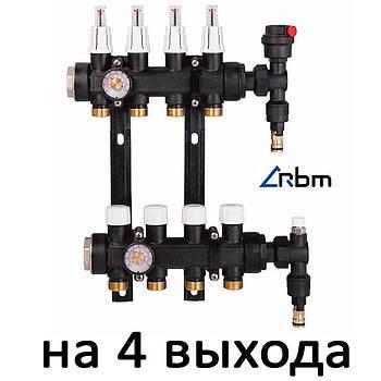 "Коллектор в сборе с расходомер. полимер. 1"" Compact RBM (без насоса) 4"