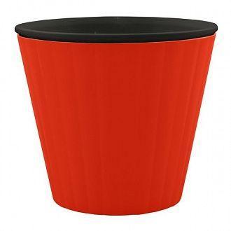 Горшок цветочный Алеана Ибис 15х13 см красно-чёрный
