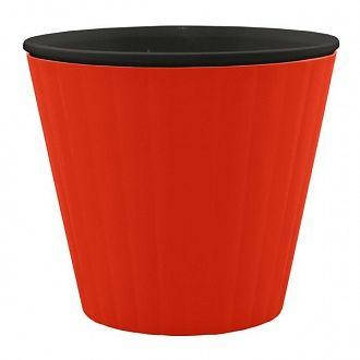 Горшок цветочный Алеана Ибис 15х13 см красно-чёрный, фото 2