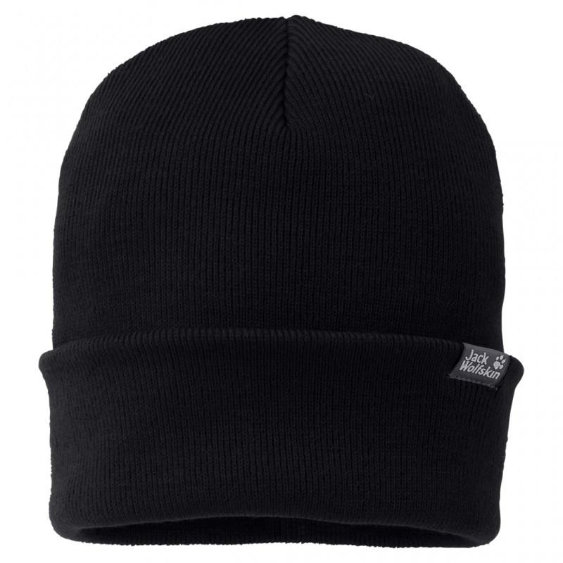 Чёрная шапка Jack Wolfskin Rib Hat