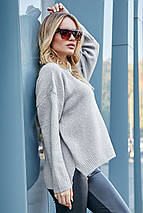 Теплый осенний свитер свободного кроя S-XXL  SEV-5618.3788, фото 3