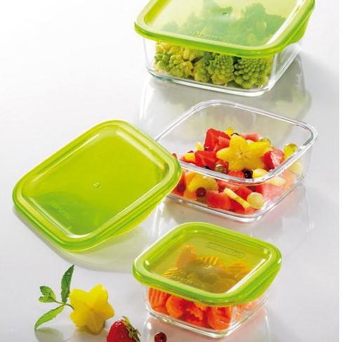 Контейнер для хранения пищи квадратный стеклянный Luminarc Keep'n'box 380 мл (p4525)