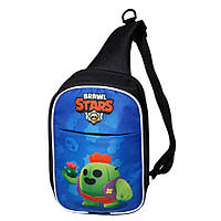 Детская сумка через плечо Brawl Stars Бравл Старс. Спайк (Spike)