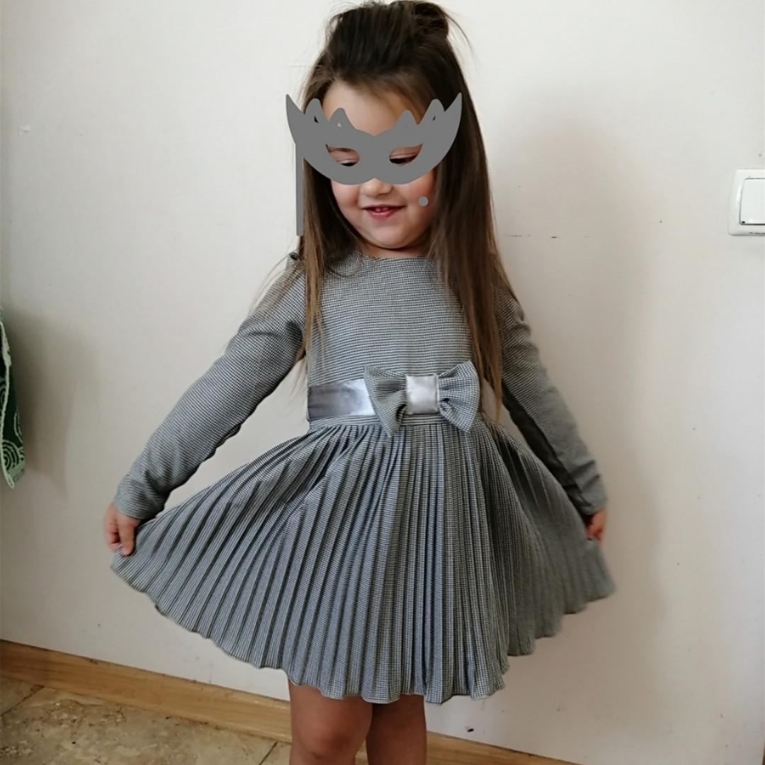 Плиссированное детское платье