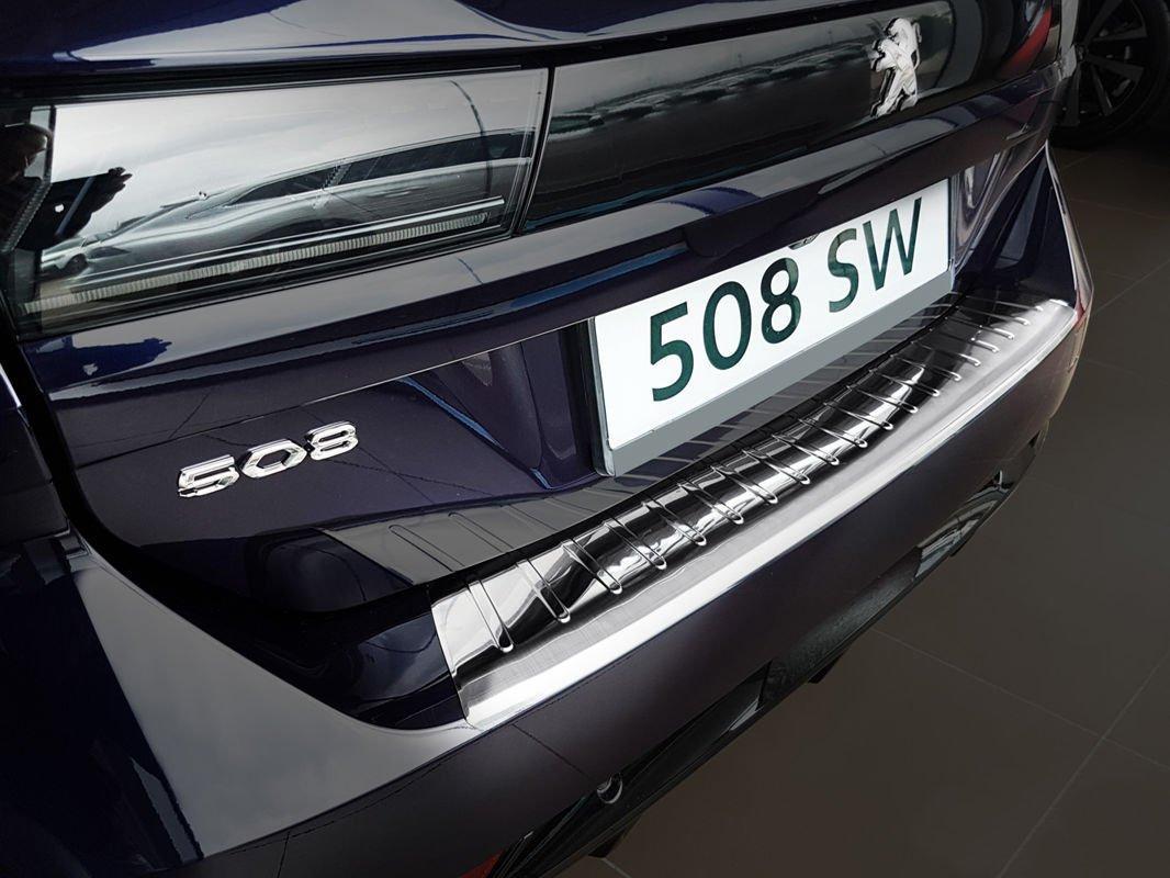 Захисна накладка на задній бампер для Peugeot 508 II SW 2018+ /нерж.сталь/, фото 4