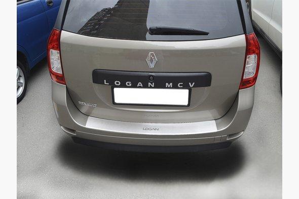 Накладка на задній бампер з загином Натанико (нерж) - Renault Logan MCV 2013+ рр.