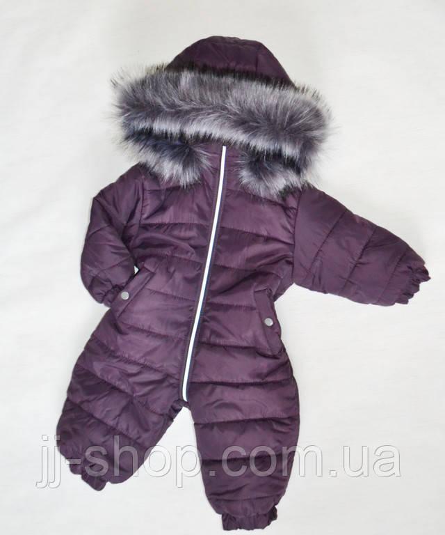 Детский зимний комбинезон на девочку