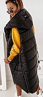 Жилет женский длинный .Женская молодежная стеганая жилетка-одеяло. Размер 46-56 Модные жилетки