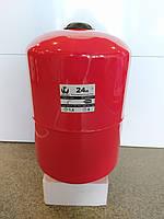 Бак расширительный для систем отопления 24 л круглый LIDER, фото 1