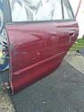 Дверь задняя правая красная MB945007 993016 Galant 93-96 r.  5k Mitsubishi, фото 2