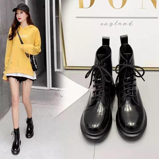 Стильные женские ботинки лаковые, черные. Крутая новинка, обувь осень 2020