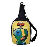 Детская сумка через плечо Brawl Stars Бравл Старс. Леон (Leon)