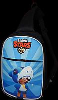 Детская сумка через плечо Brawl Stars Бравл Старс. Леон акула (Leon)