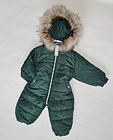 Детский зимний комбинезон на мальчика от 0.5 до 2 лет, цельный, человечек, бутылка, фото 1