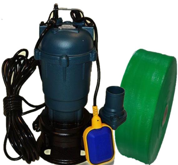 Фекальный насос с измельчителем + ШЛАНГ 50мм FORWATER 1,1 (гарантия 3 года) + шланг 10м GR