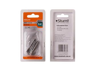 Шарошки стальные 6 шт Sturm 9030-10-01
