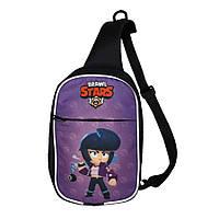 Детская сумка через плечо Brawl Stars Бравл Старс. Би Би (Bibi)