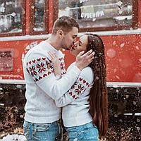 """Коллекция  вязаных свитеров для  влюбленных """" Валентинка"""""""